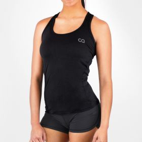 Women's HydraFit Active Yoga Workout Tank Top, Black